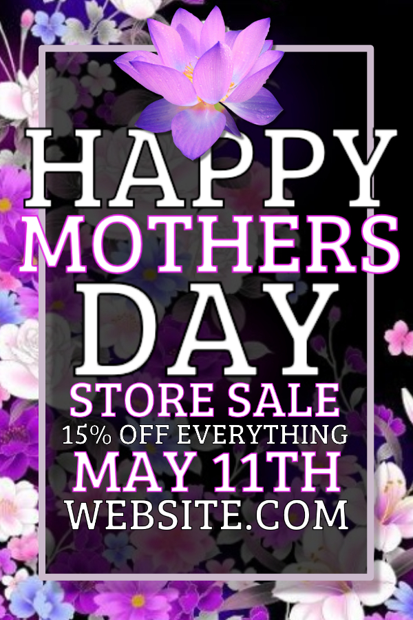 Mother's Day store sale