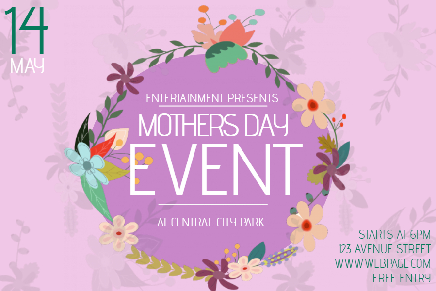 Mother's Day event social media template