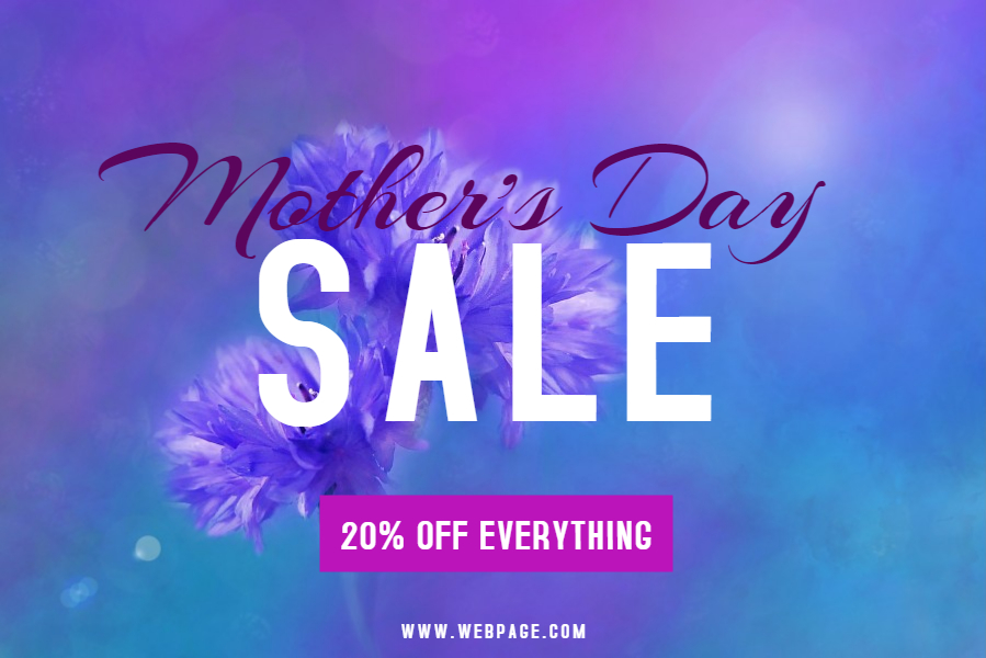 Mother's Day Sale social media template