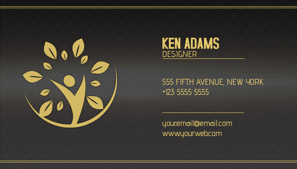 Glossy business card template