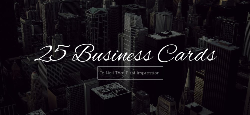 25 Professional Business Cards To Nail That First Impression