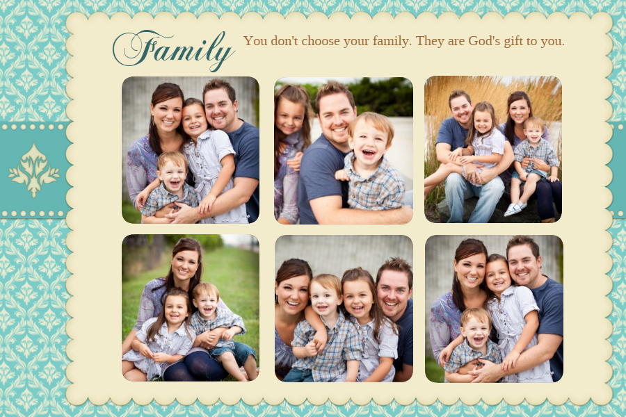 Mother's Day family collage