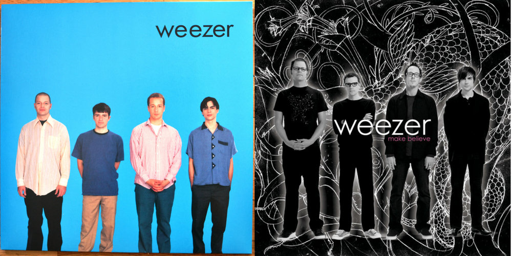 2 Weezer albums, more then a decade apart.