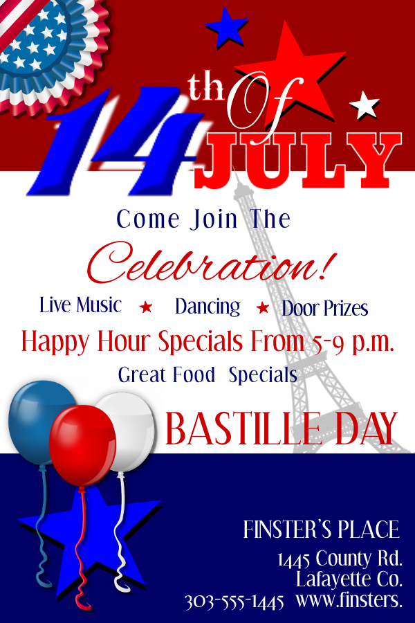 Bastille Day Poster Template