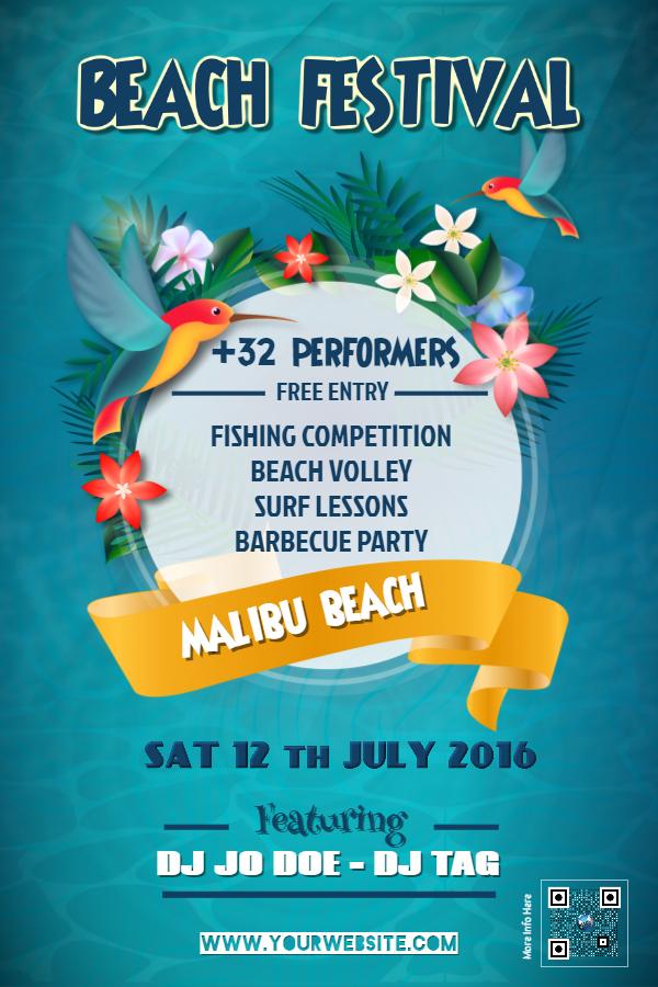 Beach Festival Flyer