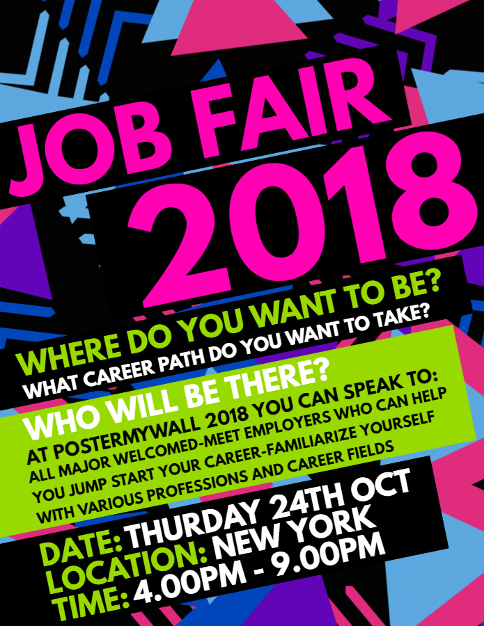 Job fair poster template