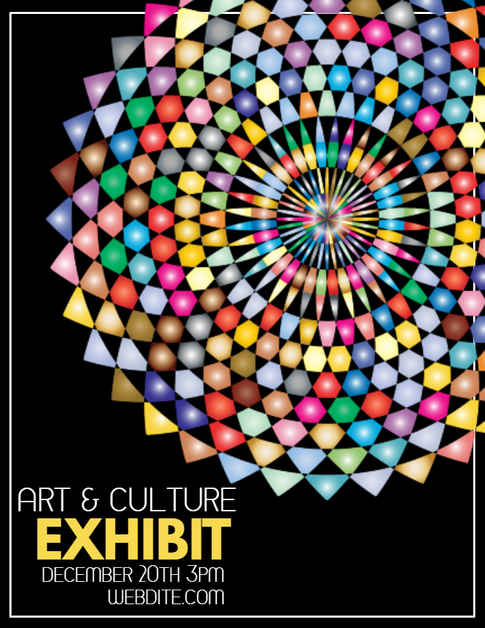Art exhibit poster template