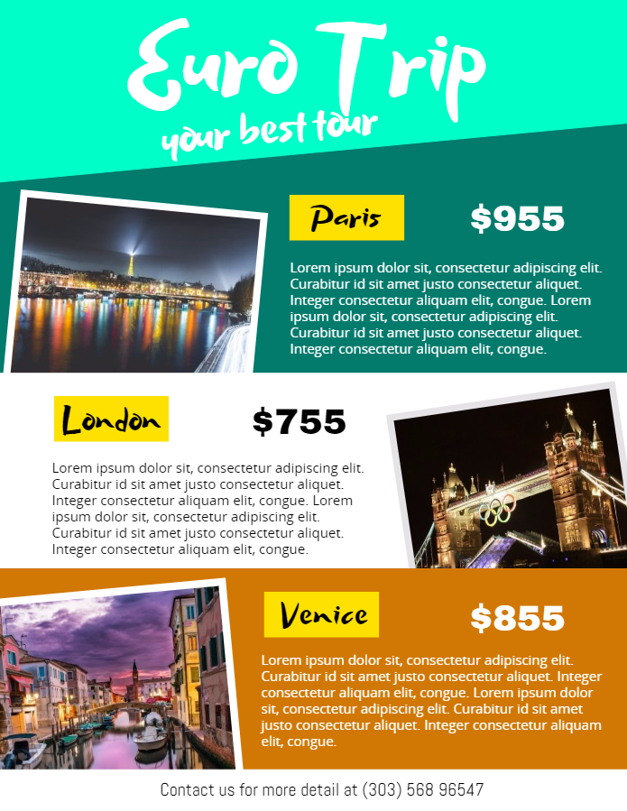 Euro trip poster template