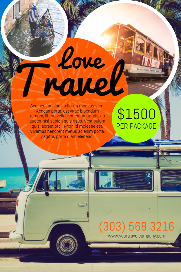 Travel agency ad poster template