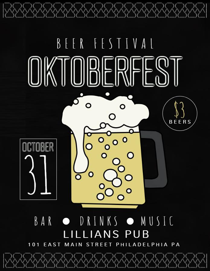 Oktoberfest flyer design