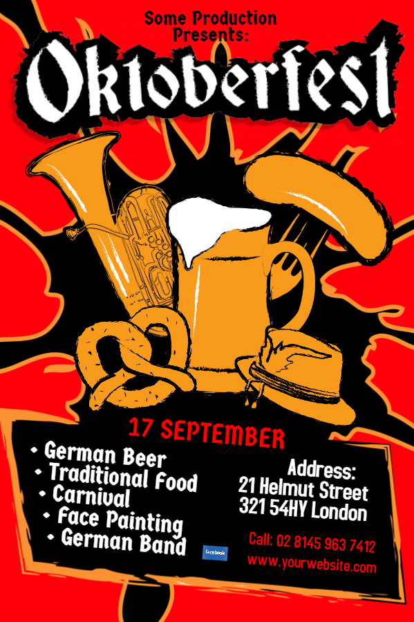 Red Oktoberfest flyer