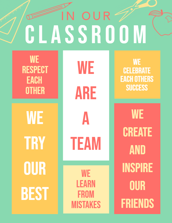 Green Class Rules Chart Poster Template Printable - Made with PosterMyWall.jpg