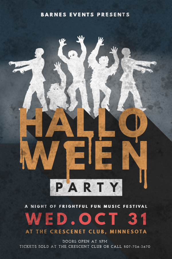 Vintage Halloween Music Party Flyer Design Template - Made with PosterMyWall.jpg