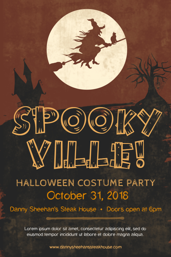 Sepia Halloween Costume Party Poster Template - Made with PosterMyWall.jpg