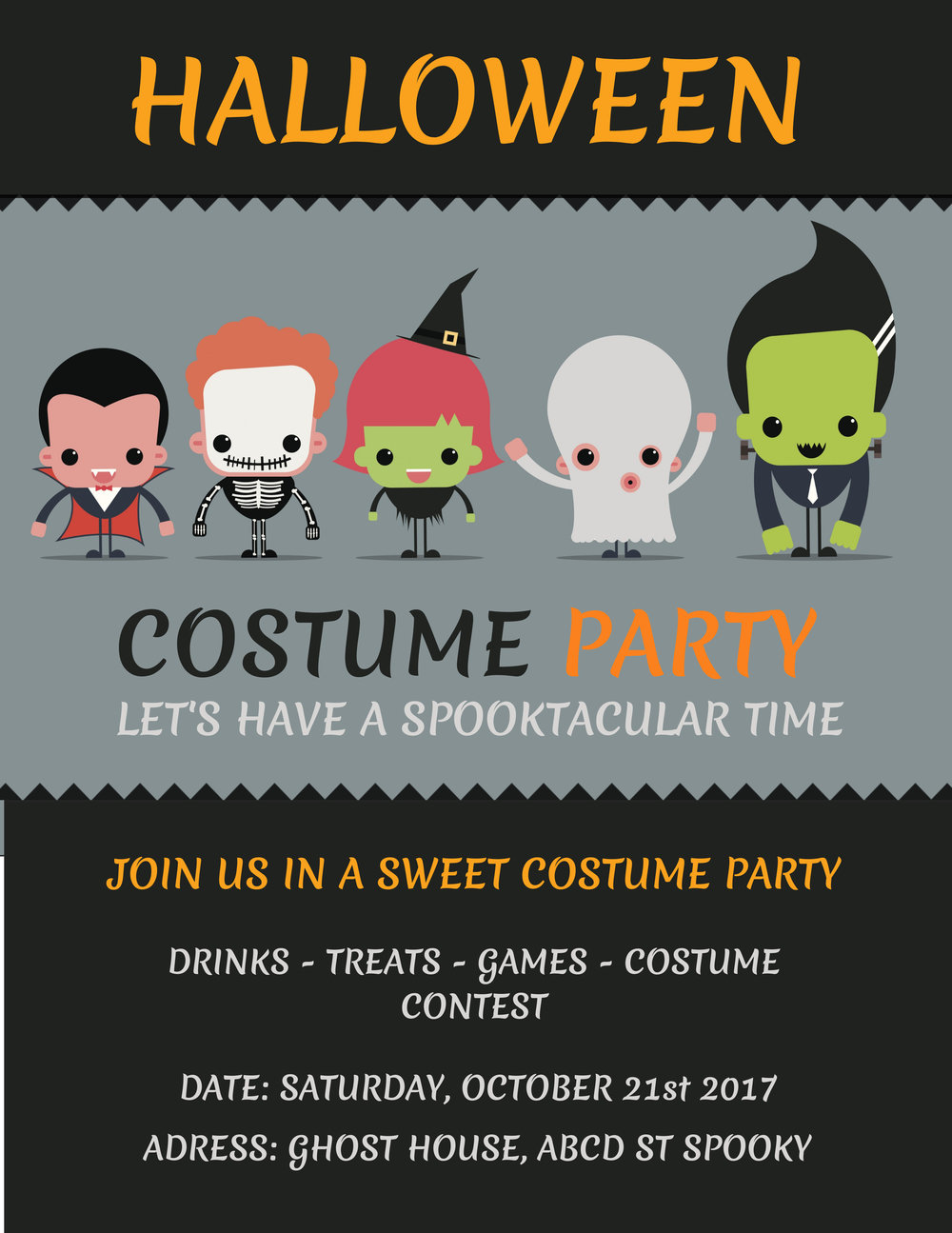 Hallowene costume party poster