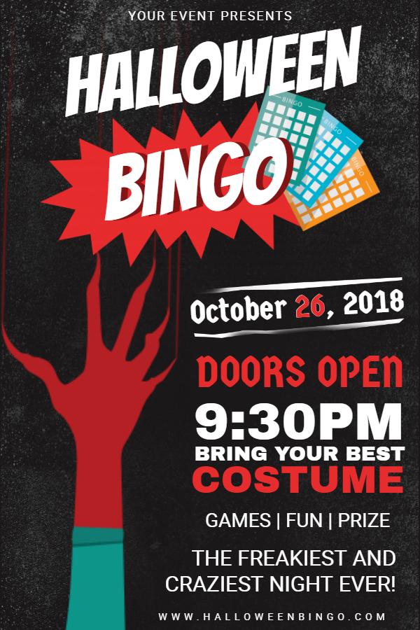 Halloween bingo poster