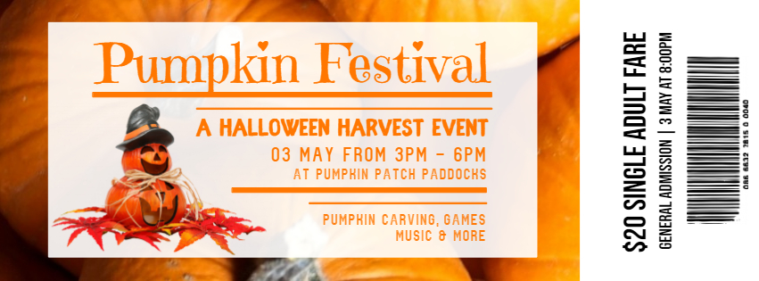 copy of halloween harvest event ticket design postermywall