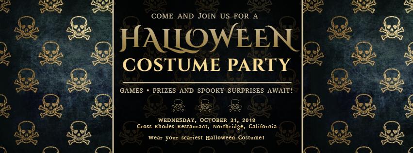 Gothic Halloween ticket