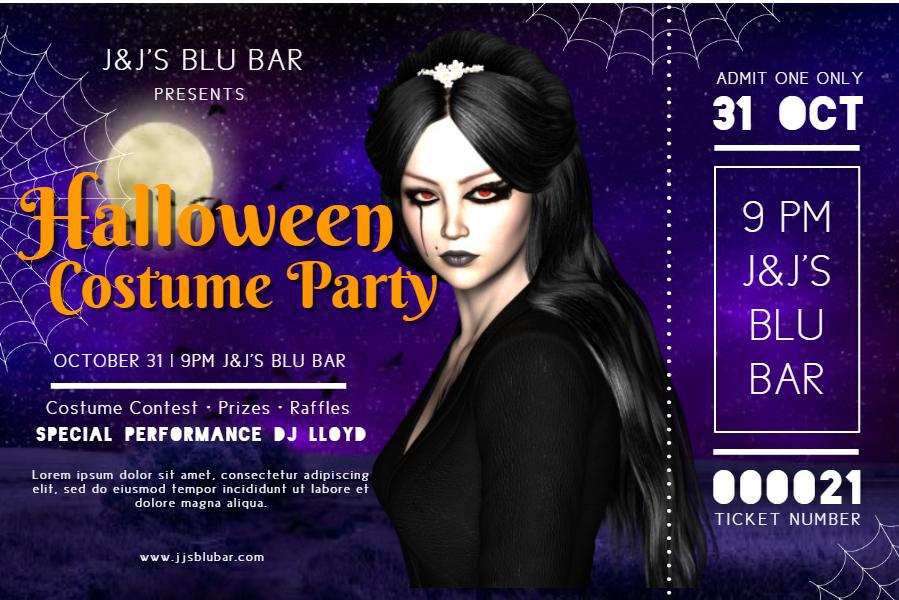Halloween ticket