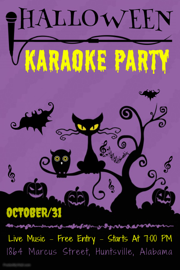 Halloween karaoke flyer