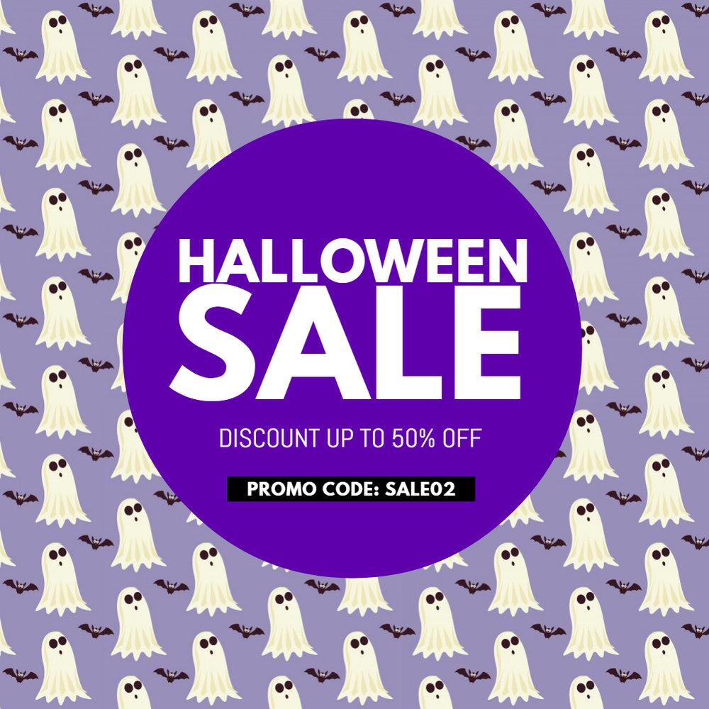 Halloween sale ad