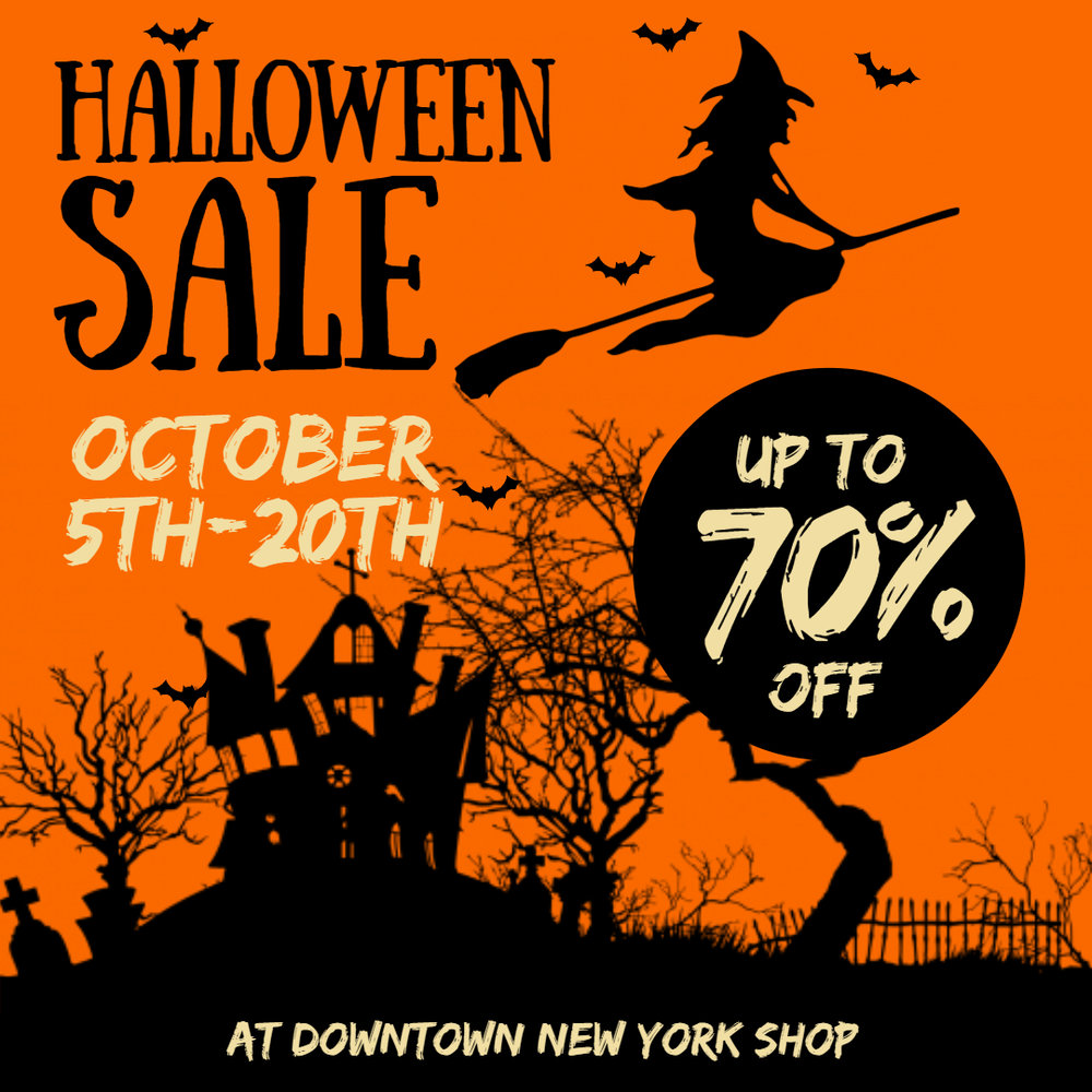 Halloween sale advert