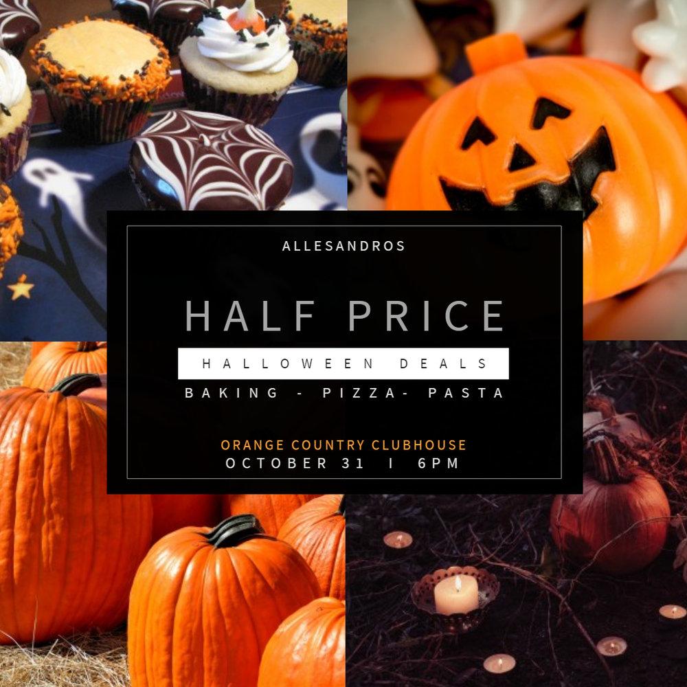 Halloween online sale ad