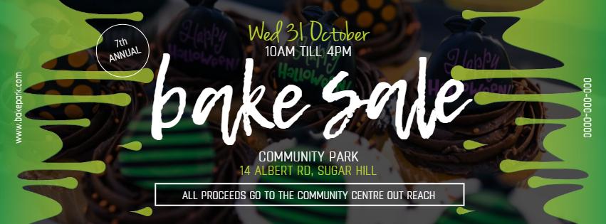 Green Bake Sale Facebook Cover