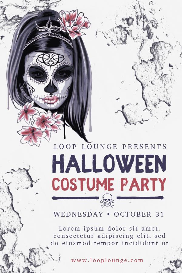 Halloween costume poster