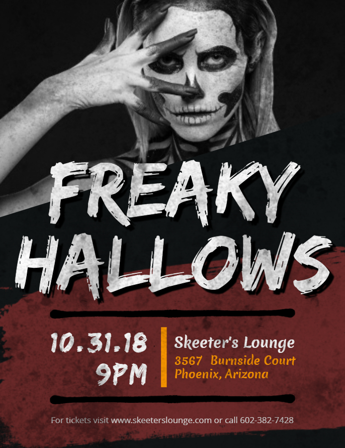 Halloween party creative flyer design