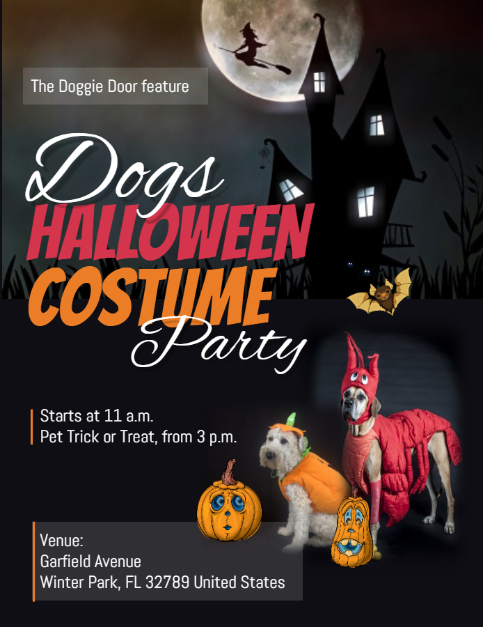 Pet costume party flyer