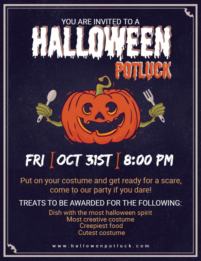 Halloween Potluck flyer