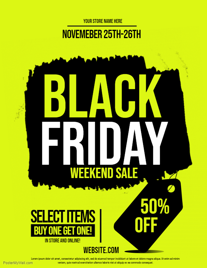Yellow Black Friday Flyer