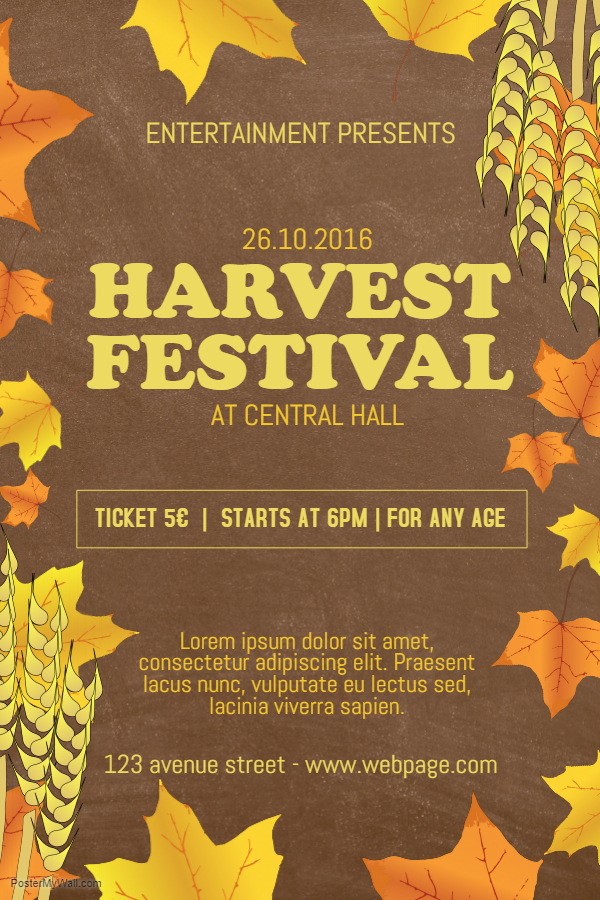 Thanksgiving harvest flyer