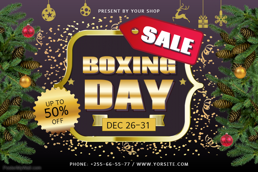 Boxing Day Retail Poster