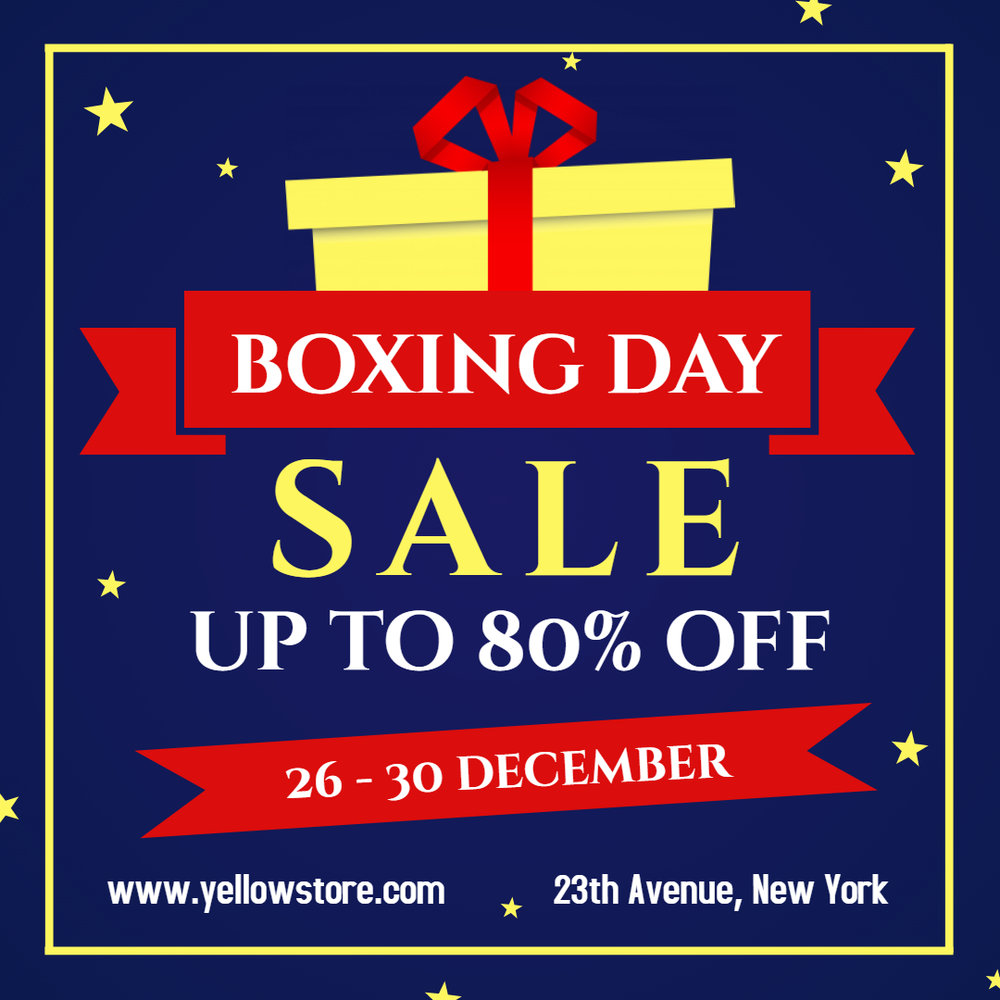 Boxing Day Sale Ad