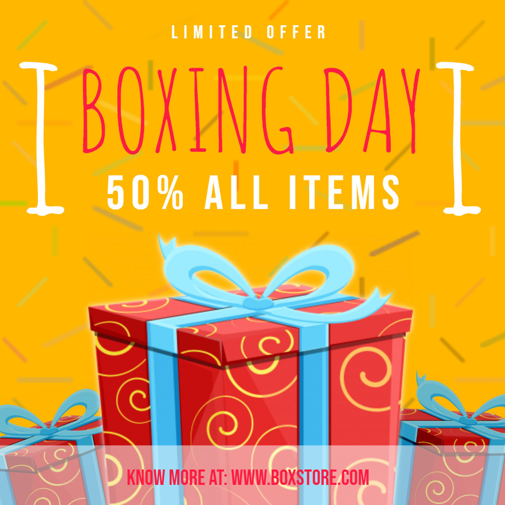 Boxing Day retail ad