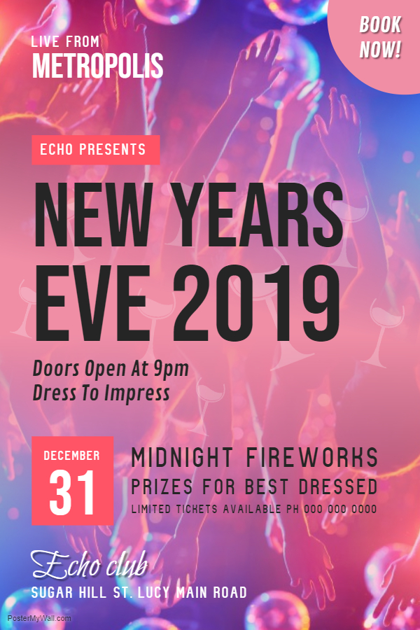 Modern New Year's Eve Poster