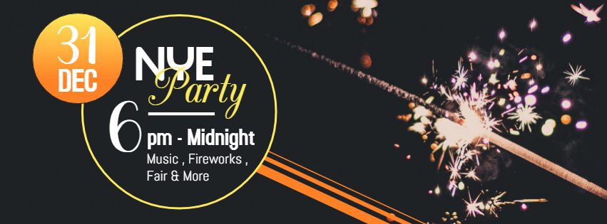 NYE party FB banner