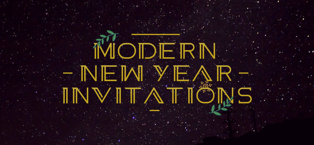 25 modern invitation templates for your new year party