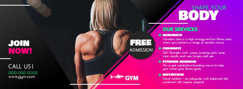 Gym information Facebook cover