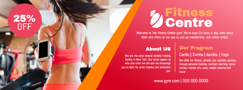 Fitness Center Facebook Cover
