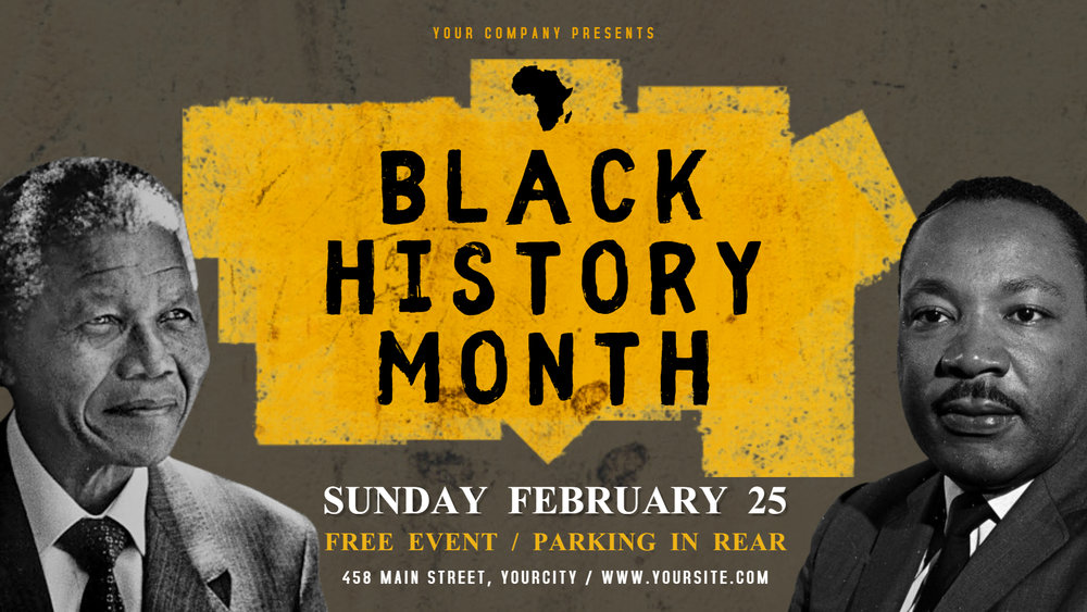 Black history month poster