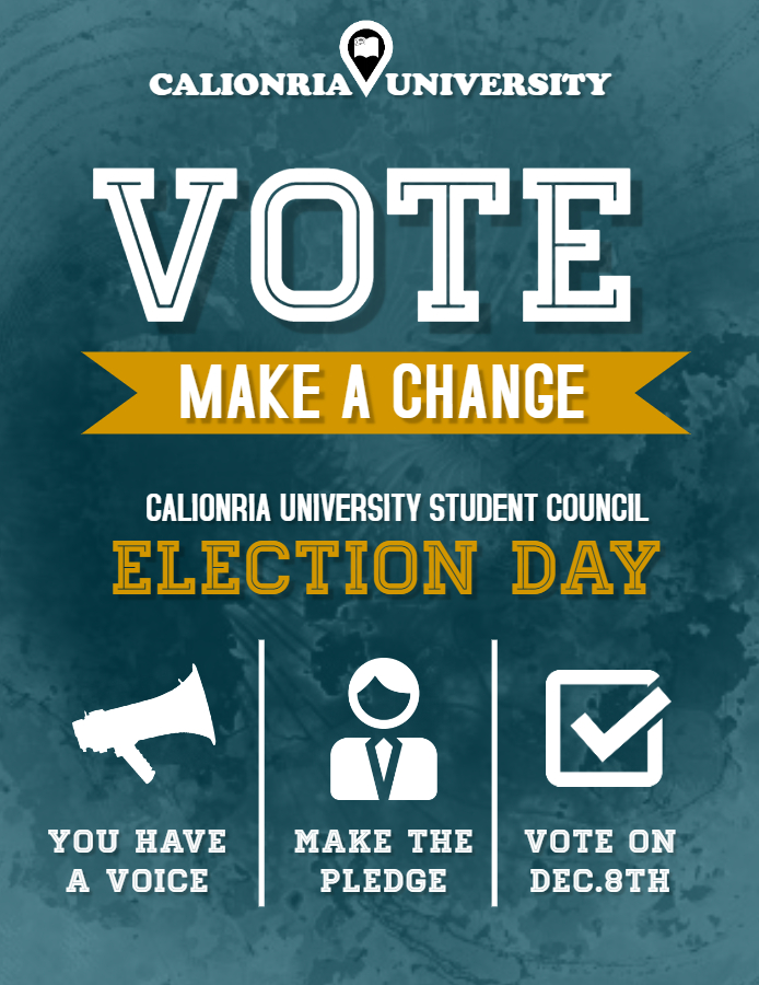 School voting flyer