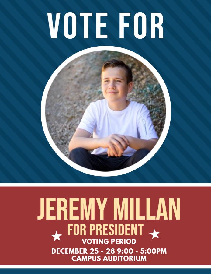 School voting flyer template