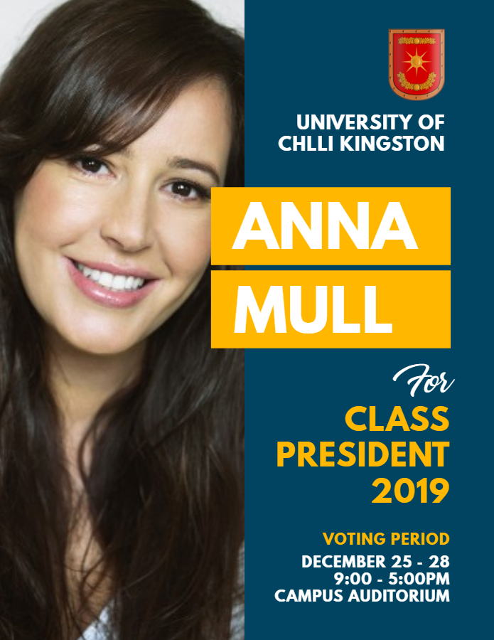 School election flyer