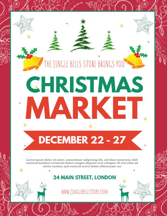Christmas market flyer