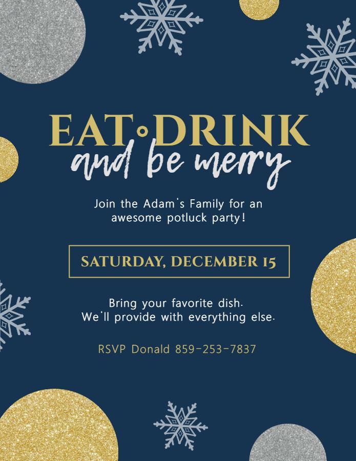 Blue Christmas flyer