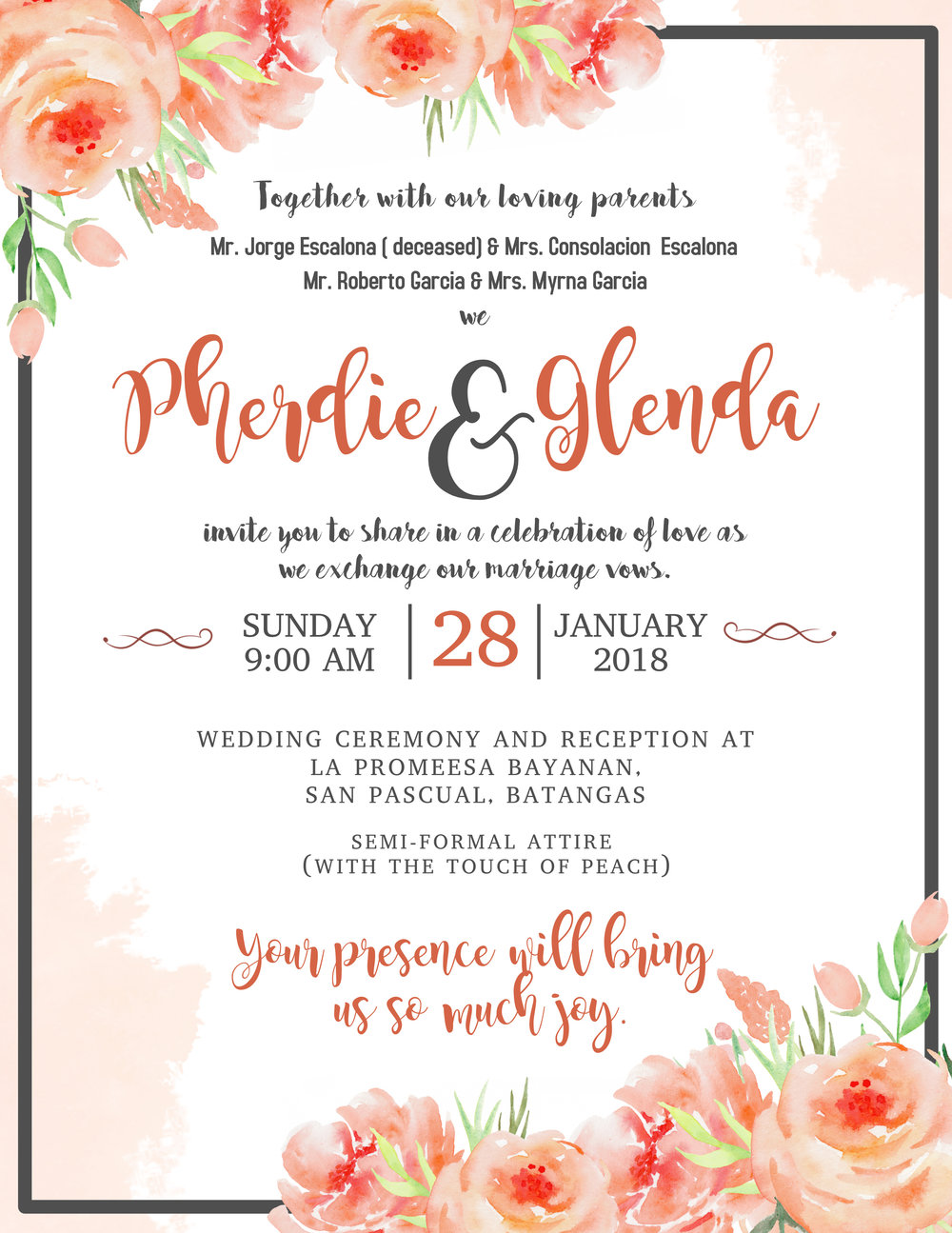 Wedding Save the date flyer