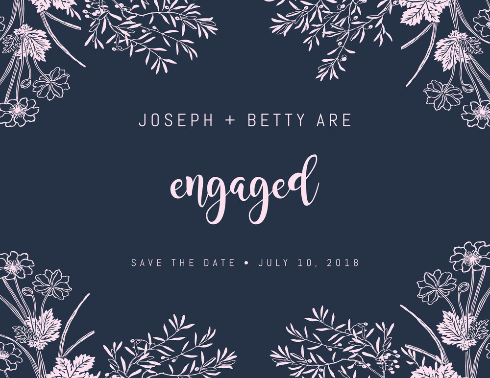 Modern save the date invitation